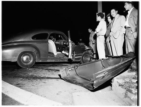 Traffic...Sepulveda Boulevard and  Washington Boulevard, 1951