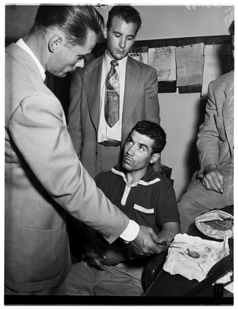 Poncy arrested on felony narcotic charge, 1951