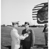 Hero receives medal, 1951