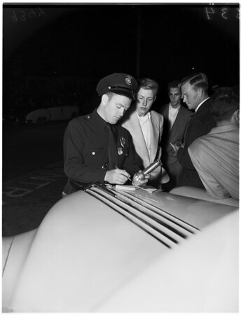 Boy Friend of Judy Garland in wreck, 1951