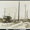 Steam shovels breaking ground on Venice Boulevard, Los Angeles, 1926