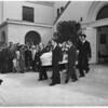 Bice funeral at church, 1951
