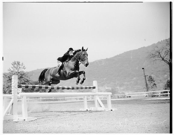 Horse Jumping at Manesco Stables, 1949