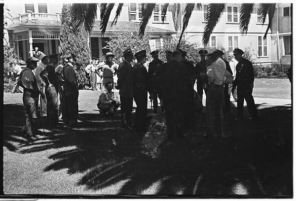 Shooting near Veterans Hospital (Sawtelle) two persons killed, 1946..