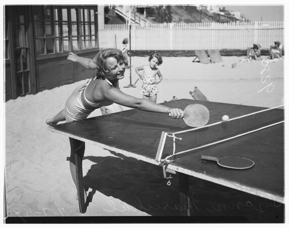 Pacific Coast Club girls sports, 1949