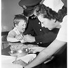 Kid gets nut caught on finger (Van Nuys Hospital), 1951