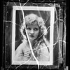 Mary Miles Minter, and photo of her handkerchief with her name on it, 1937