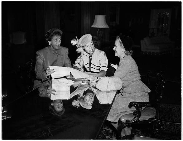 Ruby ball plans, 1951