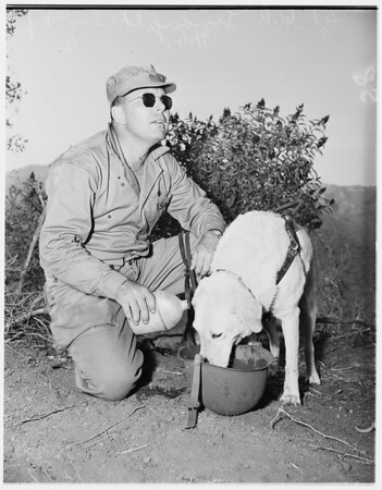 Blind Marine, Camp Pendleton, 1951