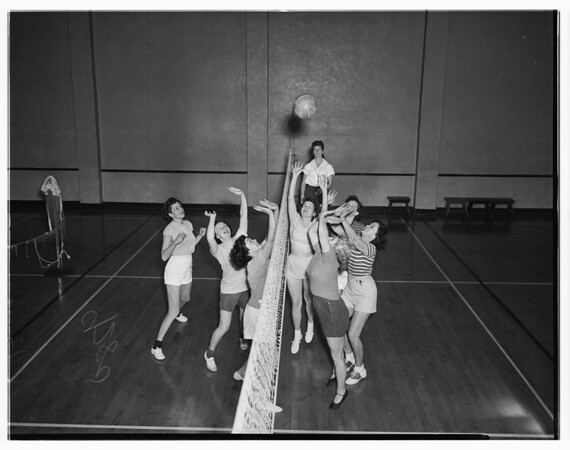 Volleyball, Young Women's Christian Association, 1949