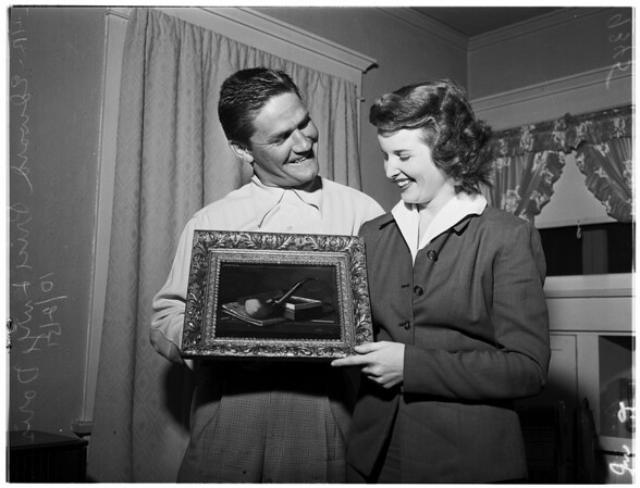 Valuable painting for $15.00, 1951
