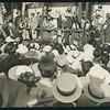 William Farnham addressing crowd at Olvera St., Los Angeles, 1938