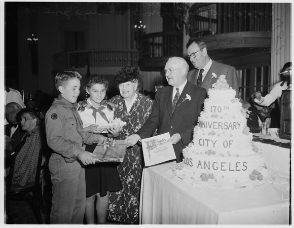 Los Angeles birthday breakfast...Biltmore Hotel, 1951