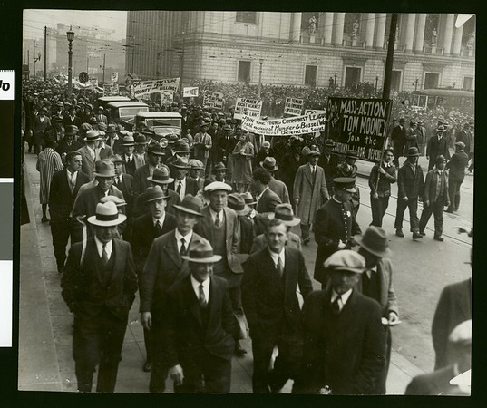 Communist parade and gathering, San Francisco?, 1931