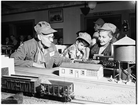 Miniature railroad show, 1951