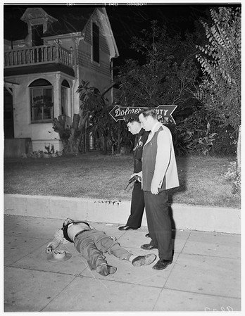 Cops kill child molester...1965 East First Street, 1951