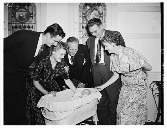 Church bride and groom night, 1951