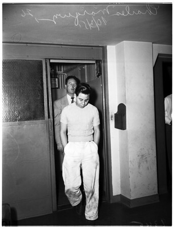 Arrest of rapist after years of search, 1951.