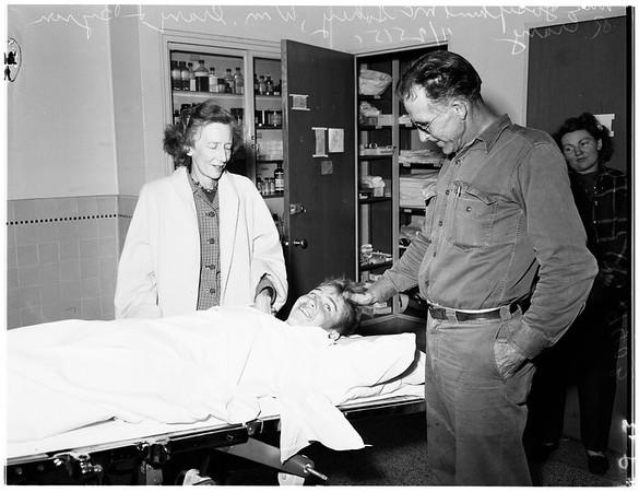 Lost boy found ...Saint Luke's Hospital, 1951