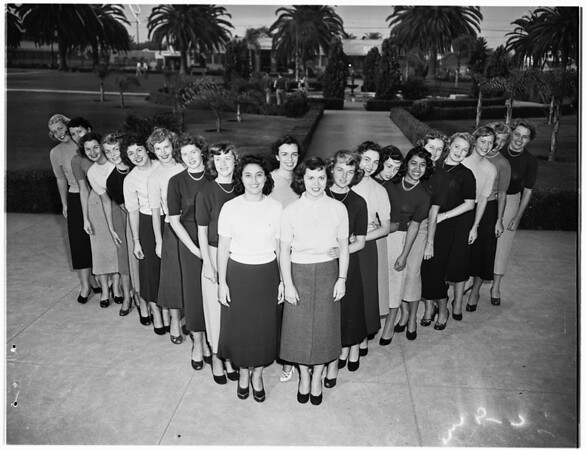 Pepperdine College ...Homecoming Queen Candidates, 1951