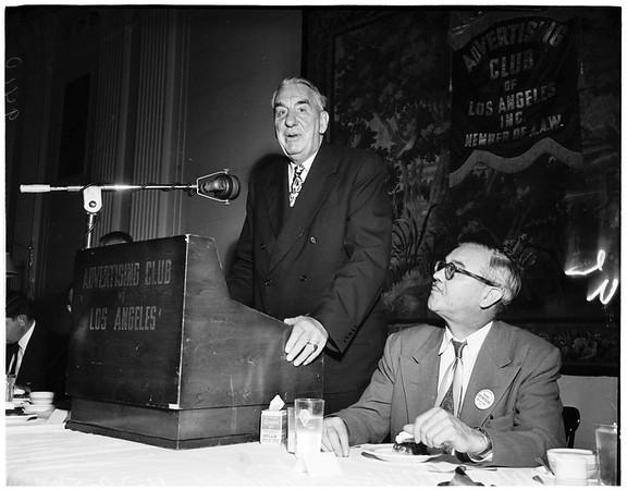 Advertising Club, 1951