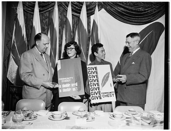 Community Chest award, 1951