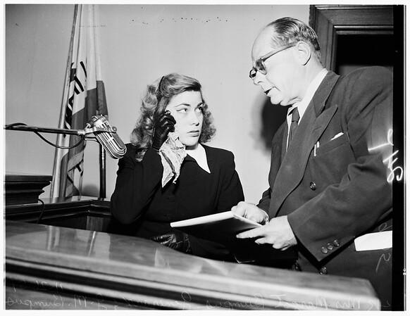False arrest suit, 1951