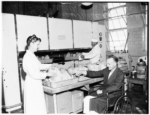 Thanksgiving ...Veterans Administration Hospital ...West Los Angeles, 1951