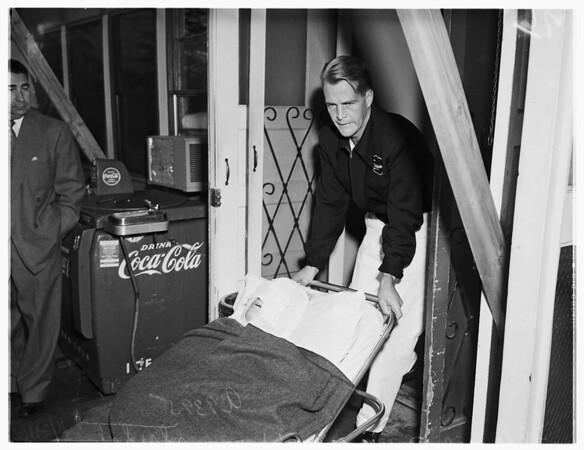 Trailer blast in Rosemead, 1951