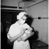 Abandoned baby...General Hospital...Picture of clamp...Umbilical..., 1951