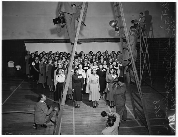 "Tournament of Roses ...Pasadena ...Seventy-Five Girl Contestants for ""Queen"", 1951"