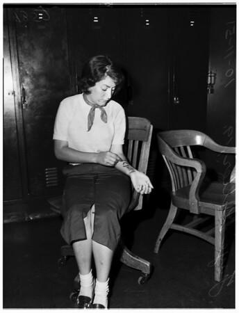 Victim of attack, 1951