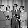 Art awards...all first place winners receiving medals, 1951