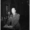 Korea war veterans on United Nations tour...at City Hall, 1951