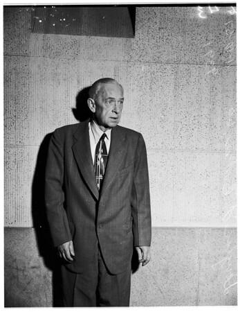 Crimes... Morals... Child Molester Suspect, 1951