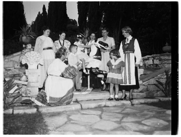 Rehearsal For Carnival...Women's Auxiliary San Pedro Community Hospital, 1951