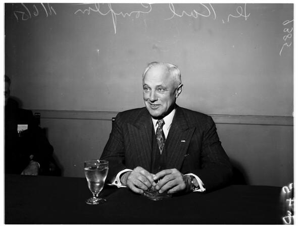 Massachusetts Institute of Technology interview, University Club, 1951