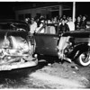 Accident...Police Car versus Auto...Adams Boulevard and Maple Avenue, 1951