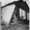 Car driven through garage into house... brakes failed, 1951