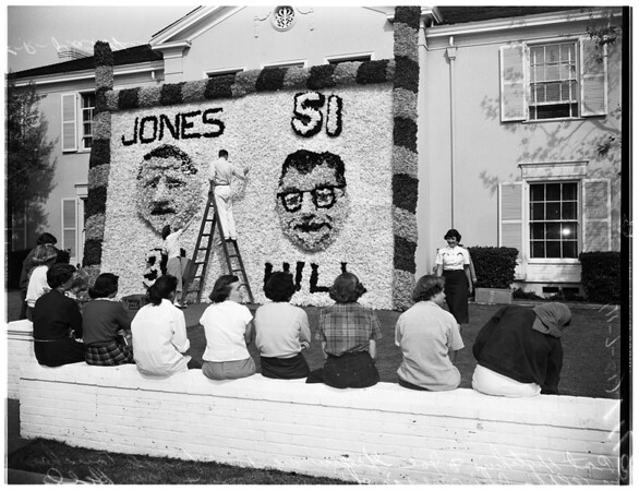 Sorority Row...University of Southern California Homecoming...University of Southern California Homecoming Queen, 1951