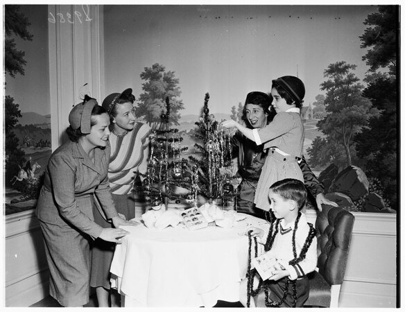 Sales Executives Wives' Club Planning Christmas Dance, 1951