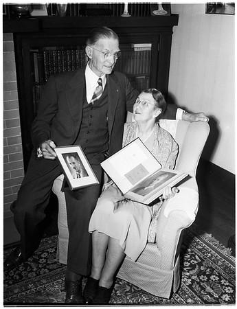 Parents of Nobel Prize Winner, 1951