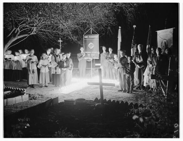 Candlelight Ceremony at San Fernando, 1951