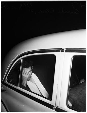 Shot by cops in traffic brawl, 1951
