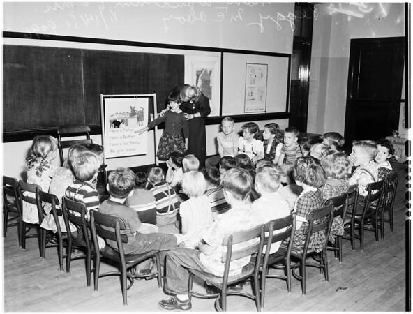 Thanksgiving buildup for children in schools, 1951