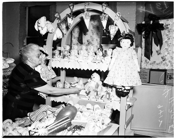 Federated Dorcas welfare societies...gifts for Christmas, 1951