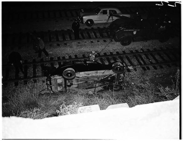 Traffic accident at 4700 Huntington Drive, 1951