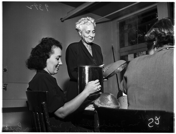Adult Education ...Millinery Class, 1951