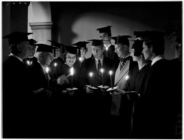 Pomona College's Founders Day ceremony, 1951