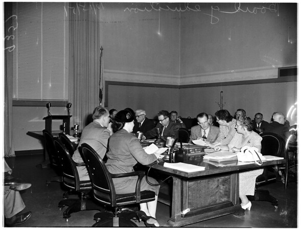 Board of Education meeting, 1951
